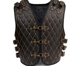Viking Conung handmade genuine leather motorcycle biker vest