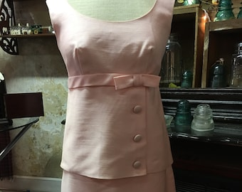 Vintage 1960's Pink 2 pc. Suit by Jr. Theme