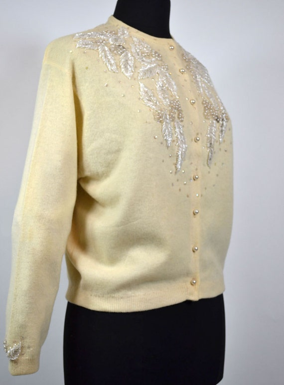 Vintage 1950's Beaded Button down Cardigan by