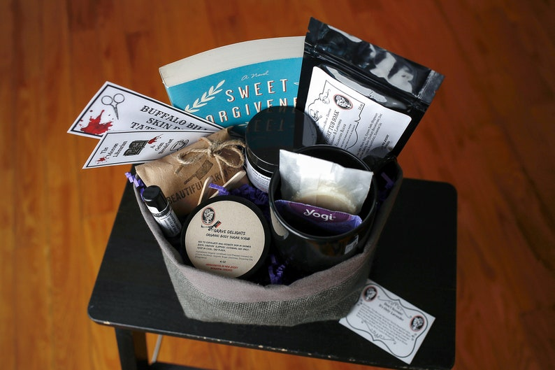 Stress Relief Lavender Christmas Gift Basket Organic Gift image 0