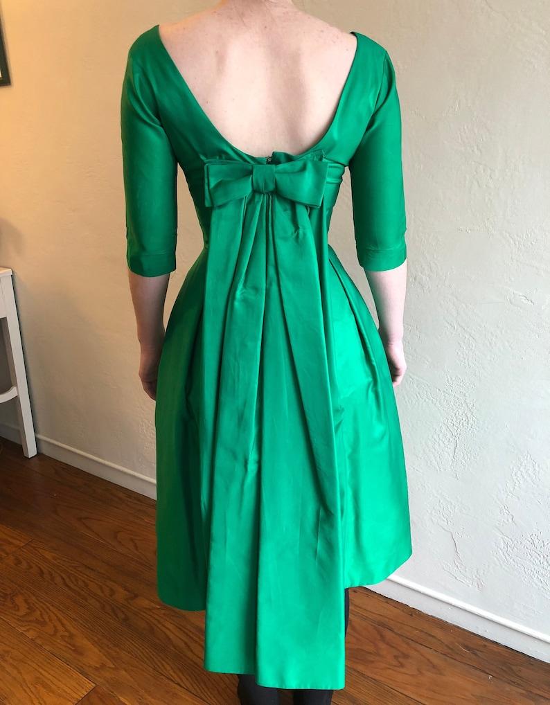 e064edaa72 1940 s Bianchi Emerald Cocktail Dress