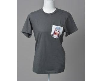 Unisex Crew Neck Kurt Cobain Pocket T-shirt / Tee
