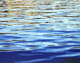 Muskoka Magic // Original Acrylic Painting, Water, Muskoka, Georgian Bay, Parry Sound