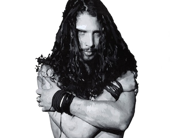 Chris Cornell // Original Acrylic Painting, Audioslave, Soundgarden