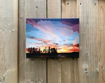Magnetawan Sunset // Print, Canvas Print, Muskoka, Sunset