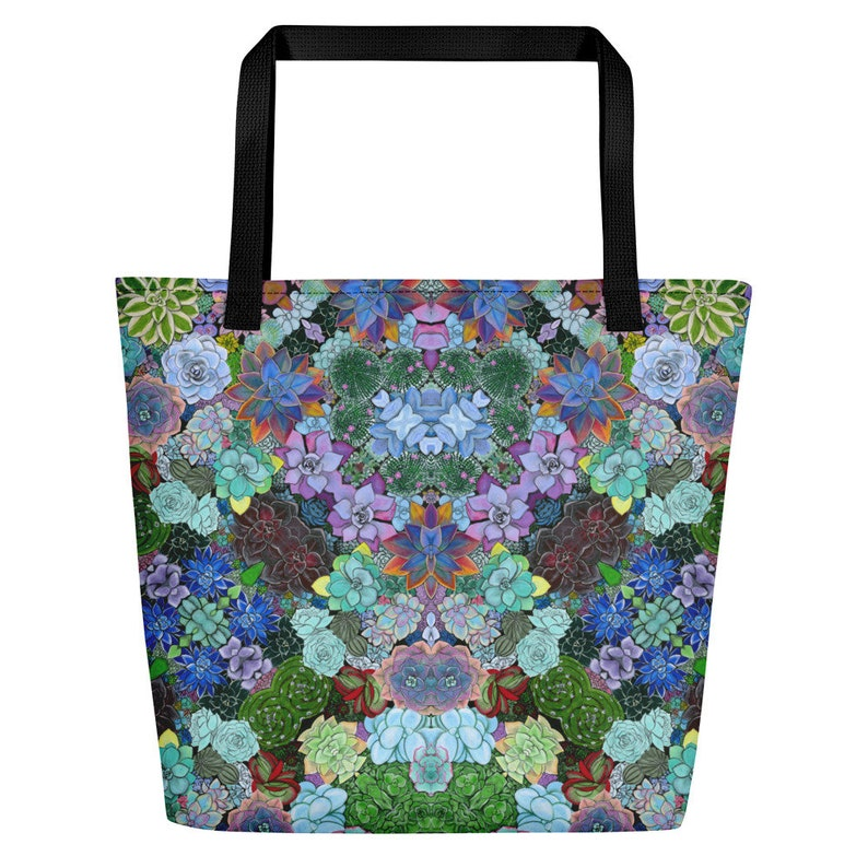 The Succulent Kaleidoscope Beach Tote travel product recommended by Leslie Athanason on Lifney.
