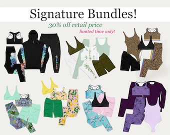 Signature Bundles! Special outfit packs at 30% off retail price :) Limited time only!