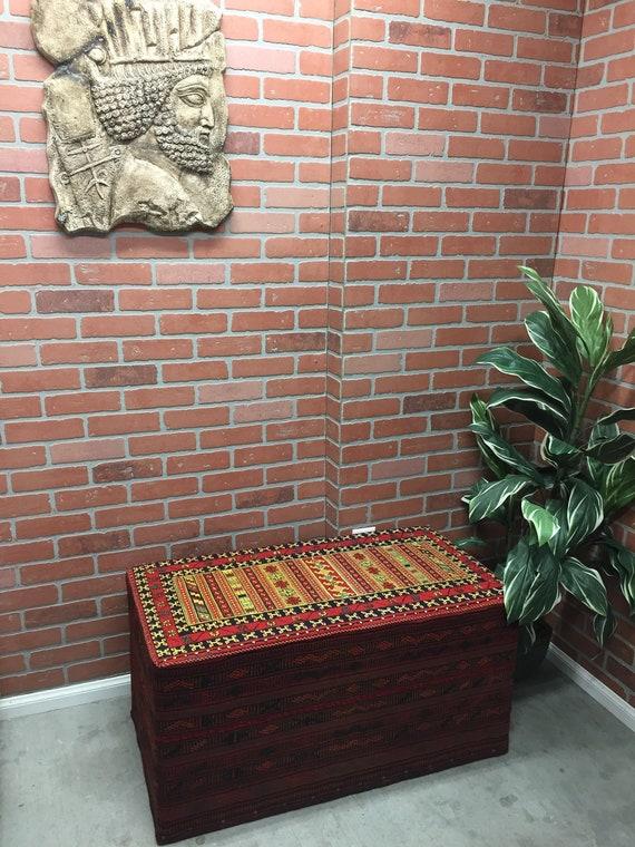 Prime Vintage Persian Rug Carpet Ottoman Kilim Handmade Chair Bench Patio Stool Andrewgaddart Wooden Chair Designs For Living Room Andrewgaddartcom