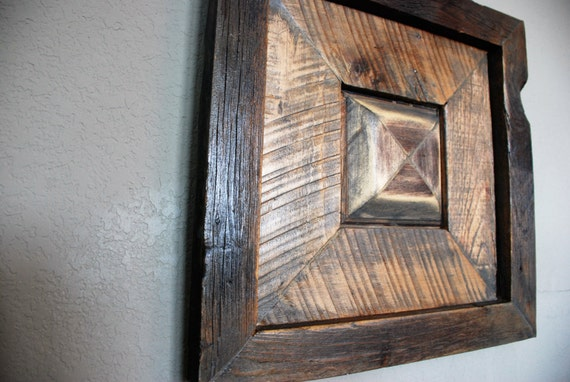 Reclaimed Wooden Wall Art-raised Medallion Pallet Wood