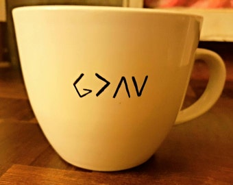 God is greater then the high moments and the low moments coffee mug!