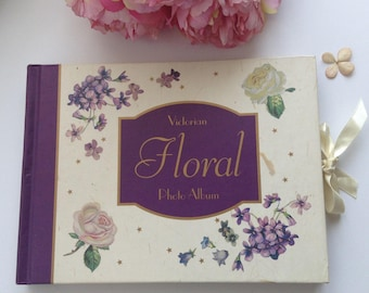 vintage floral photo album shabby chic style cottage style
