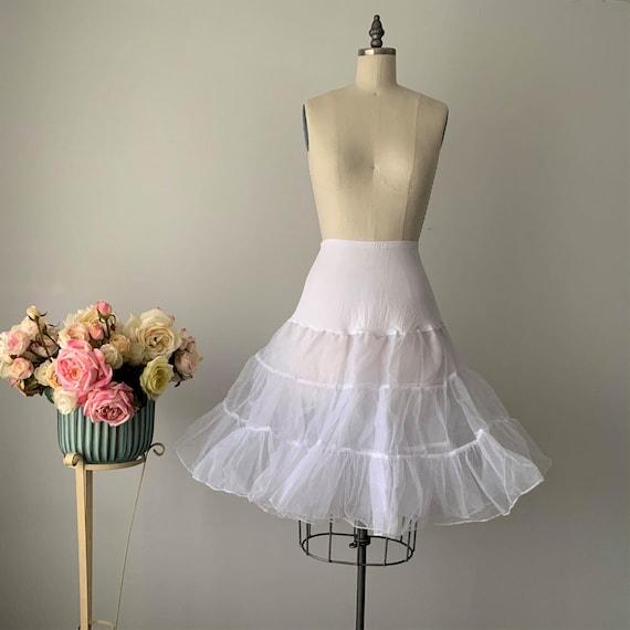 Vintage White Tulle Petticoat, Tulle Half Slip, A