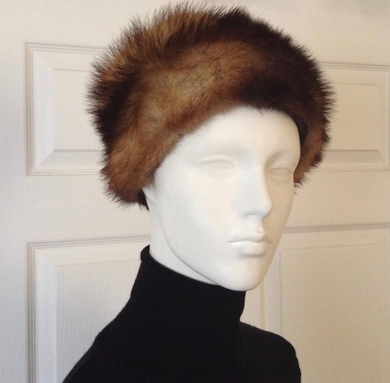 Vintage Genuine Fur Winter Hat, Winter Fur Hat, El