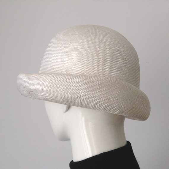 Vintage EATON'S of Canada White Straw Hat, Straw … - image 3