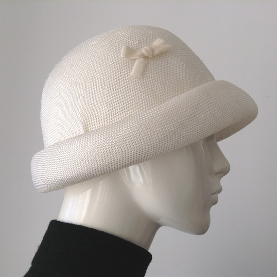 Vintage EATON'S of Canada White Straw Hat, Straw … - image 6