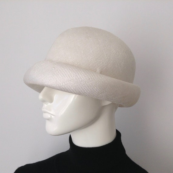 Vintage EATON'S of Canada White Straw Hat, Straw … - image 5