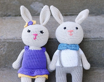 Amigurumi Berry Patch Bunny // Handmade Crocheted Male or Female Doll for Toddlers and Kids