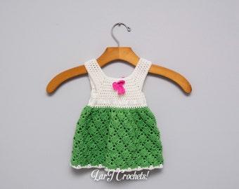 PRE-MADE - Vintage NEWBORN Baby Doll Dress // Handmade Crochet Dress