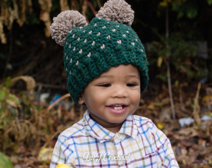 Featured listing image: Dakota Double Pom Hat // Babies, Toddlers, Children and Adults