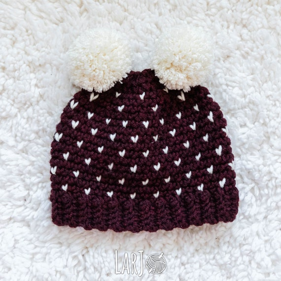 READY TO SHIP Dakota Double Pom Hat    Thick Winter Hat with  5ab370a1c85