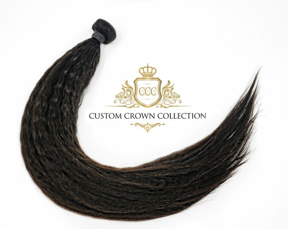 "Luxury Kinky Straight Virgin Hair Bundles 12"" - 30"""