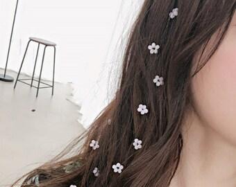 Tiny Flower Hair Piece Pin,Hair Accessories.