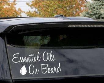 Essential Oils on Board Decal-Can be used on any smooth surface glass/wood/plastic -You choose color & size- Full customization available