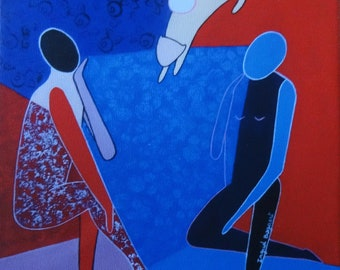 Conversation1, print on canvas