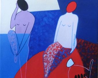 Conversation2, print on canvas