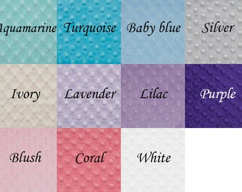 """Ultrasoft minky dots fabric, 11 colors, 58""""-60"""" wide,  by yard,  Shannon fabric"""