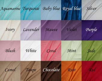 """Ultrasoft cuddle minky fabric, 20 colors, 58""""-60"""" wide,  by yard,  Shannon fabric"""