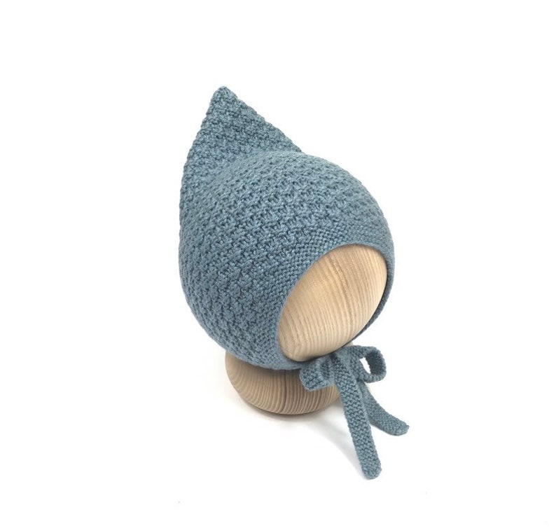 NEW LOVELY Baby Infant Knitted Crochet Bonnet Pixie Beanie Hat 12-18 Months