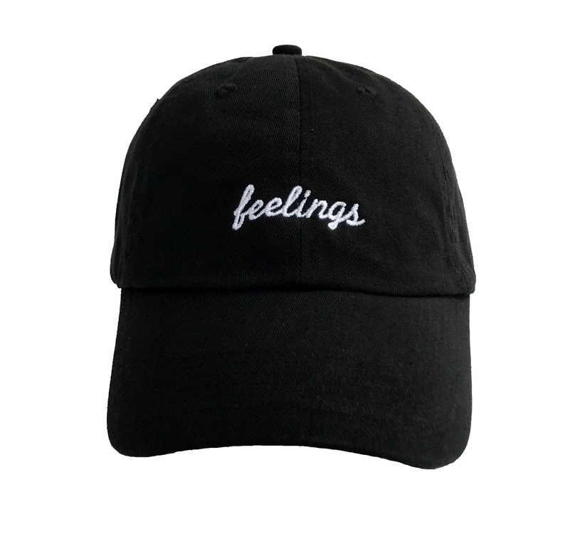a2e65a32d20cc Feelings Dad Hat Tumblr Baseball Cap Embroidered Custom Dad