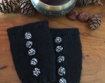 Esther black leg warmers