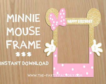 Minnie Mouse Photo Booth Frame, Custom Design (Digital File), PDF, Instant Download