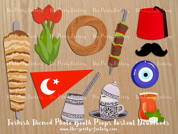 Turkishistanbul Themed Photo Booth Props Instant Download Etsy