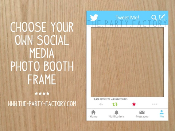 Social Media Photo Booth Frame Instant Download Printables Etsy