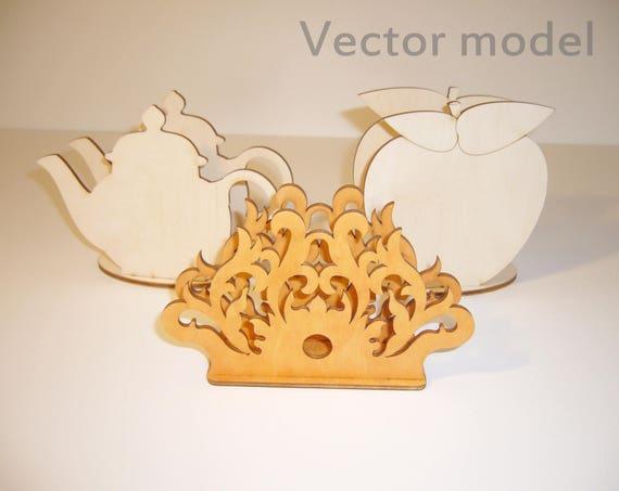 Napkin holders drawing laser cut vector model vector etsy image 0 maxwellsz