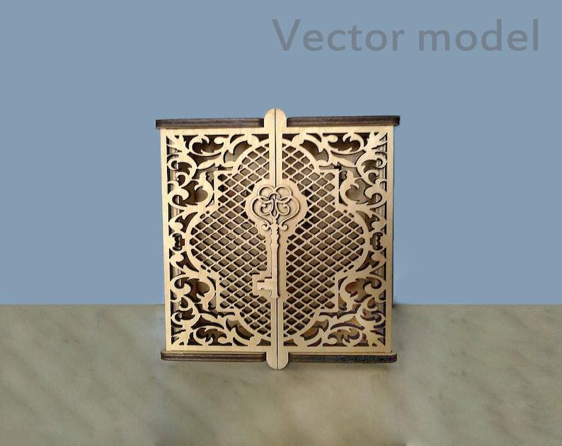 Credenza Con Chiavi : Scatola per chiavi laser taglio vettoriale modello etsy