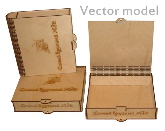 Small Box Drawing Laser Cut Vector Model Template For
