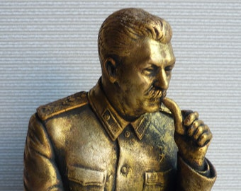 Soviet Russian lider USSR communist STALIN bust statue