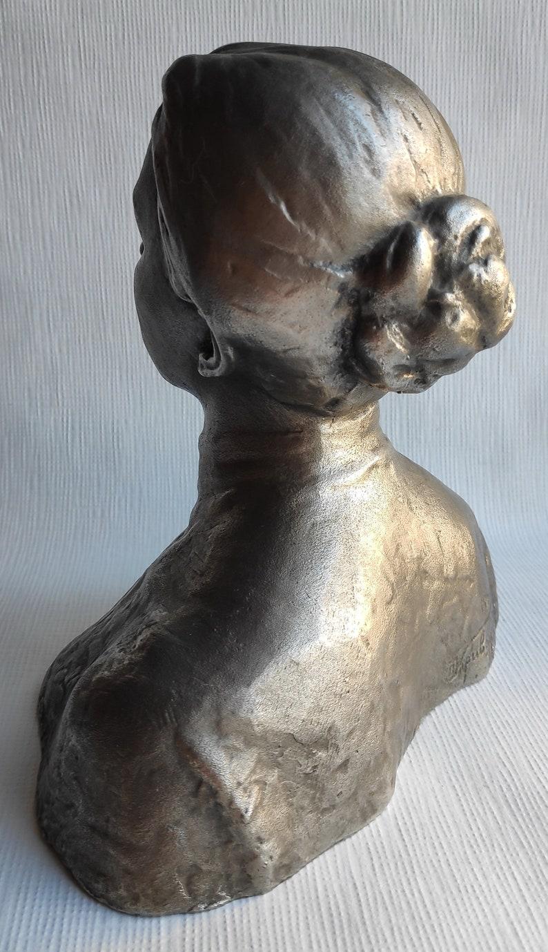 Russian Soviet bust statue KRUPSKAYA Wife LENIN sc.Krivorutsky 1969