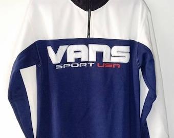 90er Jahre Vintage Vans Blau Herren 5 USA