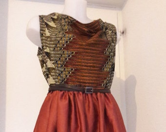 wax and cotton dress.