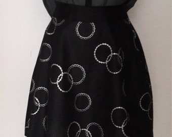skater skirt, wax cotton skirt
