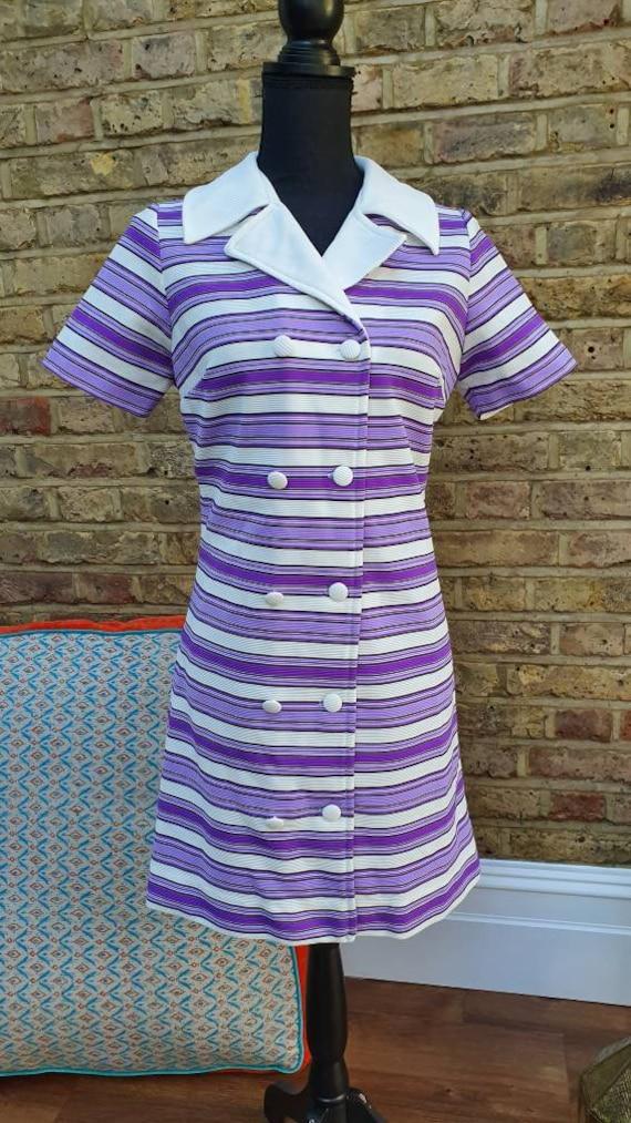 tan linen long blazer 60s mod jacket vintage Gogo Vintage 60s rainbow striped short sleeve reversible blazer jacket 1960s striped