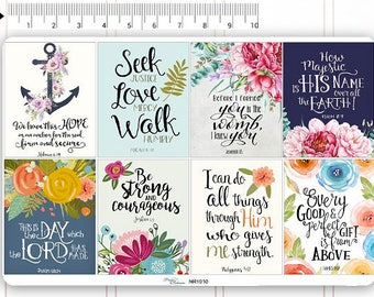 Bible Verses Stickers Motivational Sticker Fullboxes Stickers Planner Stickers Erin Condren Decorative Stickers Live Planner NR1010