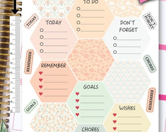 Hexagon Stickers To Do Stickers Weekly Kit Stickers Erin Condren Planner Stickers Erin Condren Live Planner Functional Stickers NR303