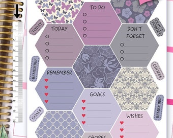 Hexagon Stickers To Do Stickers Weekly Kit Stickers Erin Condren Planner Stickers Erin Condren Live Planner Functional Stickers NR453