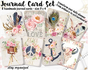 Journal Cards Project Life Cards Journaling Cards Scrapbook Cards Journaling Filler Cards Assorted Cards Scrapbooking 3x4 Cards JC001